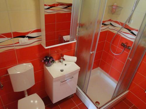 A bathroom at Apartments Zizic