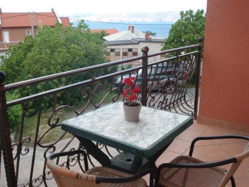 Balkón nebo terasa v ubytování Apartment Blaza