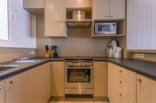 Cuisine ou kitchenette dans l'établissement Residentie Sweetnest