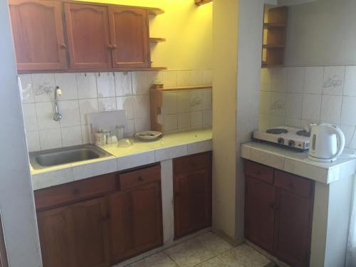 Una cocina o zona de cocina en Aparthotel Residencial Gina
