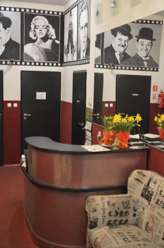 The lobby or reception area at Hostel B Movie