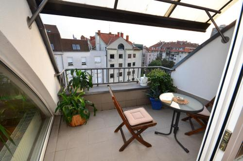 A balcony or terrace at Apartments Zagreb Point - Vrbik