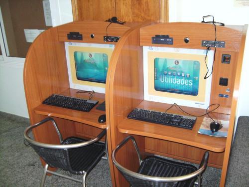 Zona business o sala conferenze di Reception La Rotonda Aparthotel