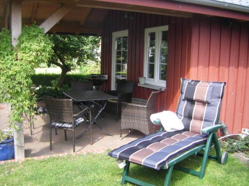 Ein Sitzbereich in der Unterkunft Ferienhaus Rosenblüte