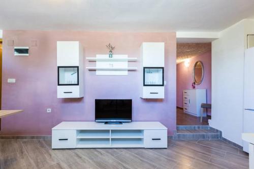 A television and/or entertainment center at Apartments Villa Bosotina