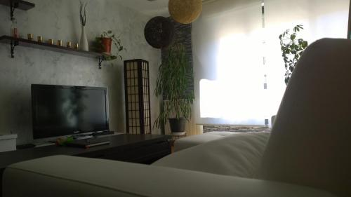 Una televisión o centro de entretenimiento en Estudio Santos Ascarza