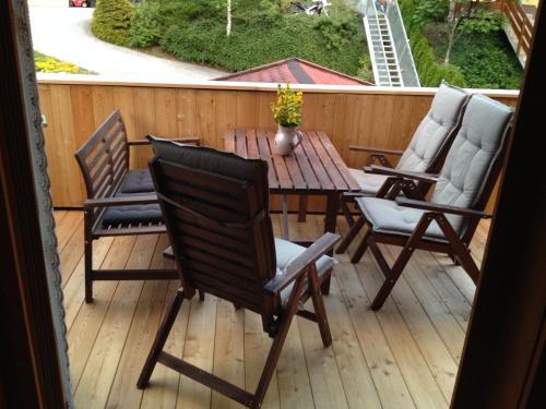 Ein Balkon oder eine Terrasse in der Unterkunft Försterhaus Grossarl