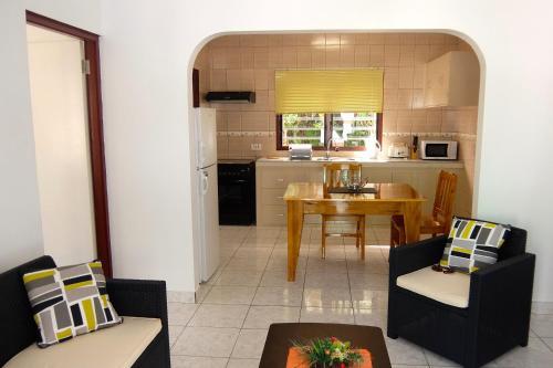 Кухня или мини-кухня в Roche Kerlan Apartments