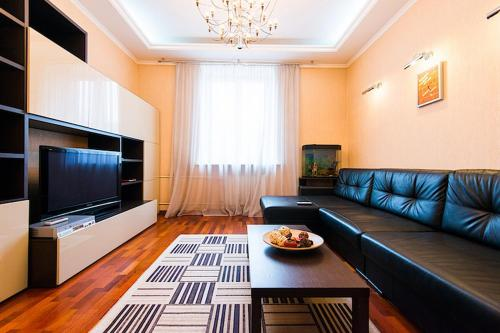 A seating area at Studiominsk Apartments