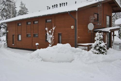 Kiurunrinne Villas during the winter