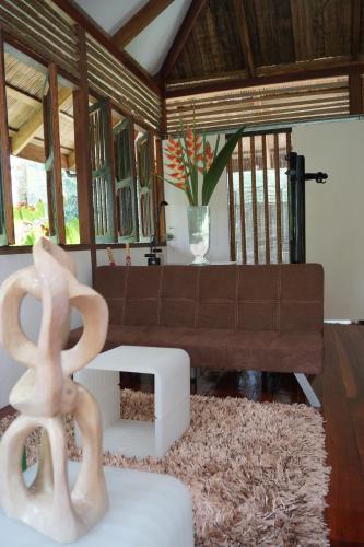El vestíbulo o zona de recepción de Mar Verde Lodge