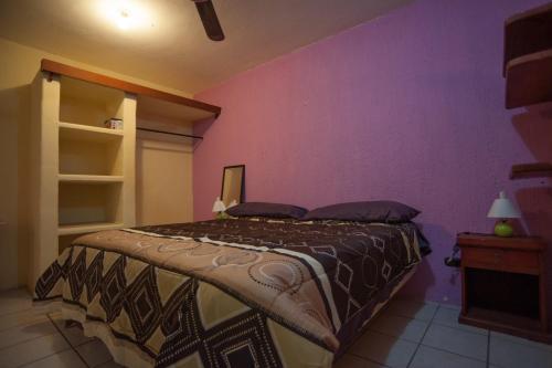 Cama o camas de una habitación en Casa Salsa