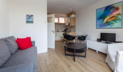 Ein Sitzbereich in der Unterkunft Appartementen Domburg
