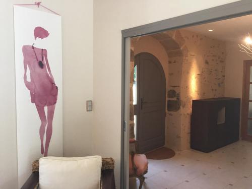 A bathroom at Luxury Farmhouse Brittany