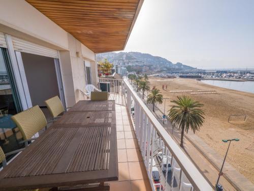 Ein Balkon oder eine Terrasse in der Unterkunft Agi Bahía de Roses