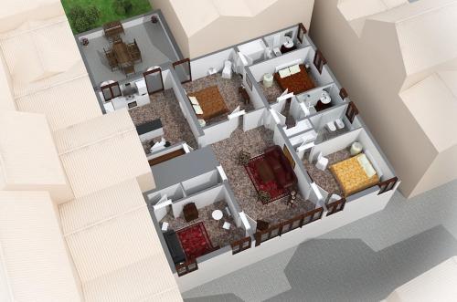 The floor plan of Cà dell'Ambasciatore