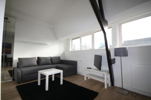 A seating area at Luxury Apartments Utrecht ll
