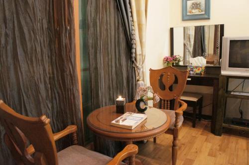 Geum Dang Lodge tesisinde bir oturma alanı