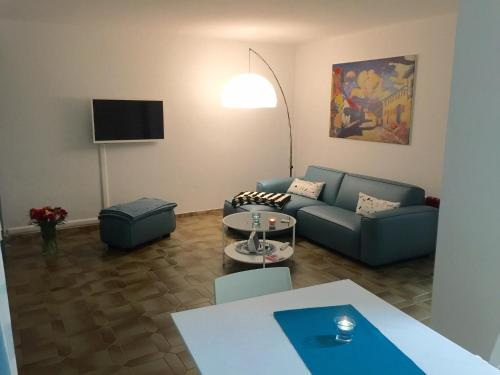 Ein Sitzbereich in der Unterkunft Ferienwohnung Südpark Apartment - Bad Nauheim