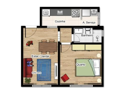 The floor plan of Apartamento Atalaia