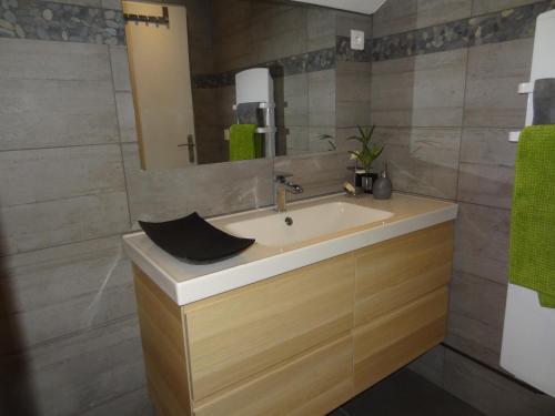 Salle de bains dans l'établissement La Pointe D'Yvoire