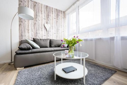אזור ישיבה ב-Deluxe Appartements am Münster