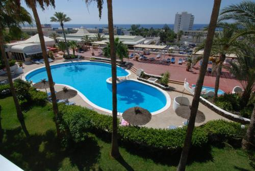 A view of the pool at Apartamentos Matorral or nearby