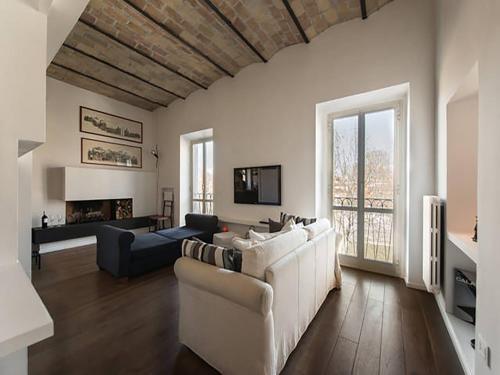 Oleskelutila majoituspaikassa Over The Tiber Loft
