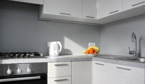 Kuhinja oz. manjša kuhinja v nastanitvi Loft and Palma Apartments