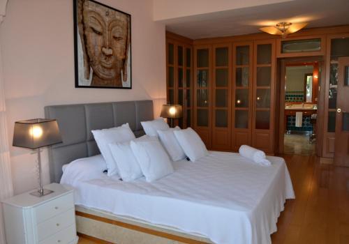 Cama o camas de una habitación en Villa Lucia