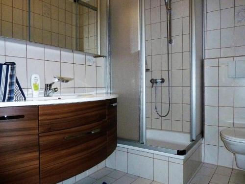 Phòng tắm tại Haus Silvia