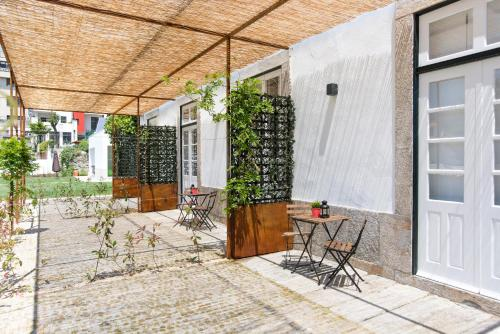 A porch or other outdoor area at bnapartments Carregal