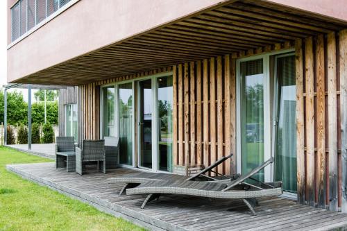 A porch or other outdoor area at Kuressaare Marina Apartment