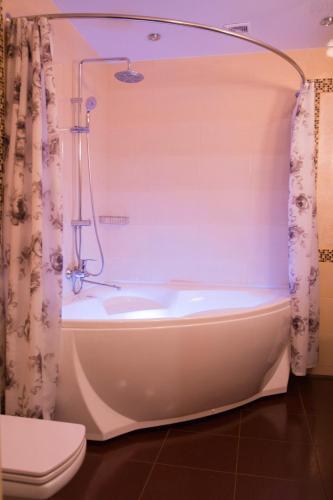 A bathroom at Lesnaya Polyana