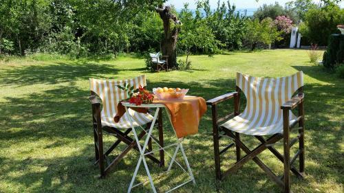 Un patio sau altă zonă în aer liber la Villa Michalis