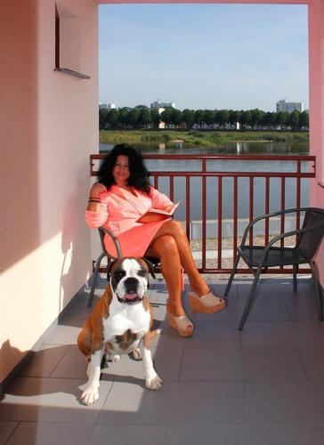 Pet or pets staying with guests at Pension Oderblick