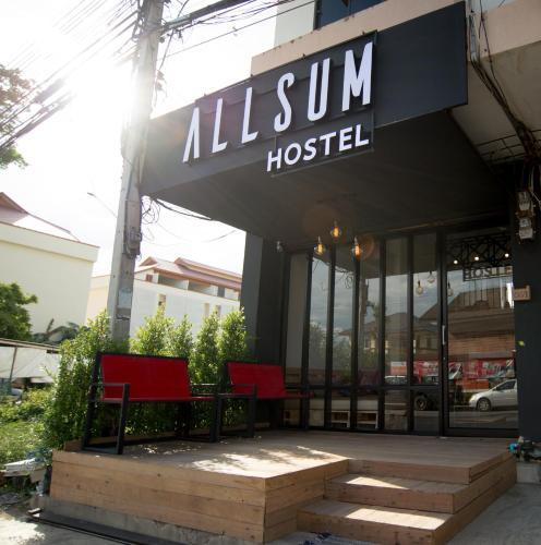 The facade or entrance of Allsum Hostel