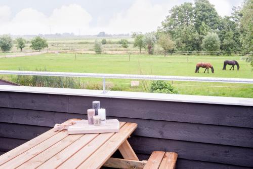 Een balkon of terras bij Ruyge Weyde Logies