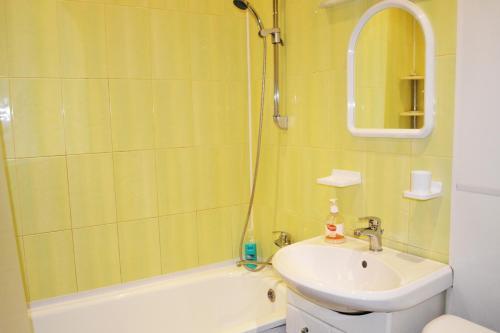 A bathroom at Leningradskaya Apartments