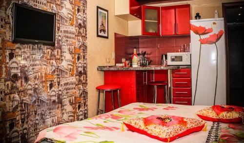 Kuchyň nebo kuchyňský kout v ubytování Lermontova 3