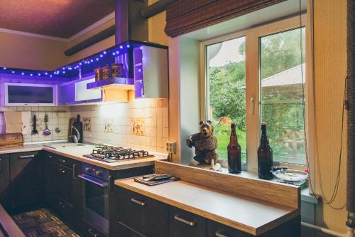 Кухня или мини-кухня в Usadba Medovay