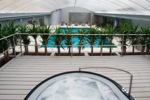 A balcony or terrace at Altis Prime Hotel