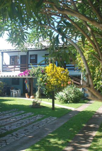 A garden outside Pousada dos Corais