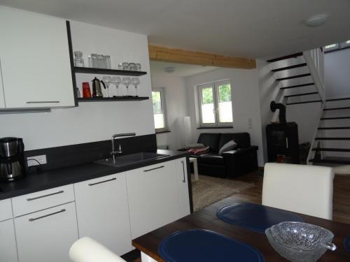 Küche/Küchenzeile in der Unterkunft Schwedenhaus im Grünen