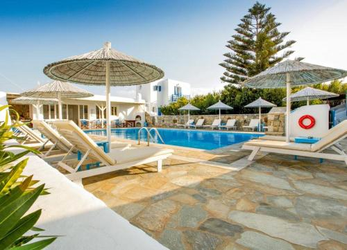 The swimming pool at or near Anemos Apartments