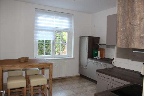 Küche/Küchenzeile in der Unterkunft Ferienwohnung Brück