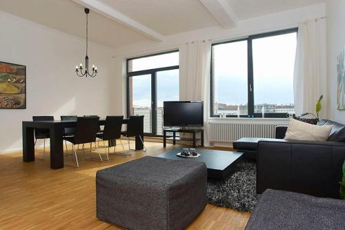 Ein Sitzbereich in der Unterkunft Berlin - Apartments Friedrichshain