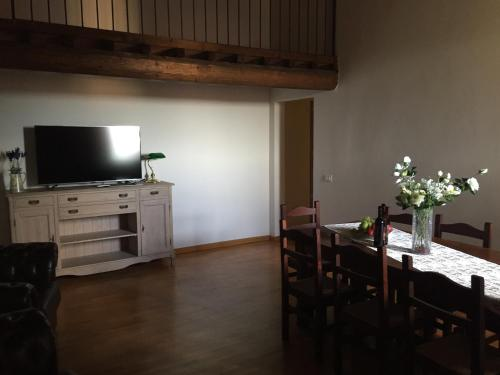 A television and/or entertainment center at Cattaneo 138