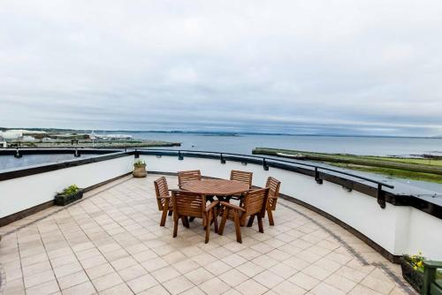 A porch or other outdoor area at Galway Luxury Sea View Apartments