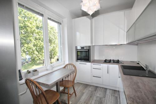 Ett kök eller pentry på Apartment Garden